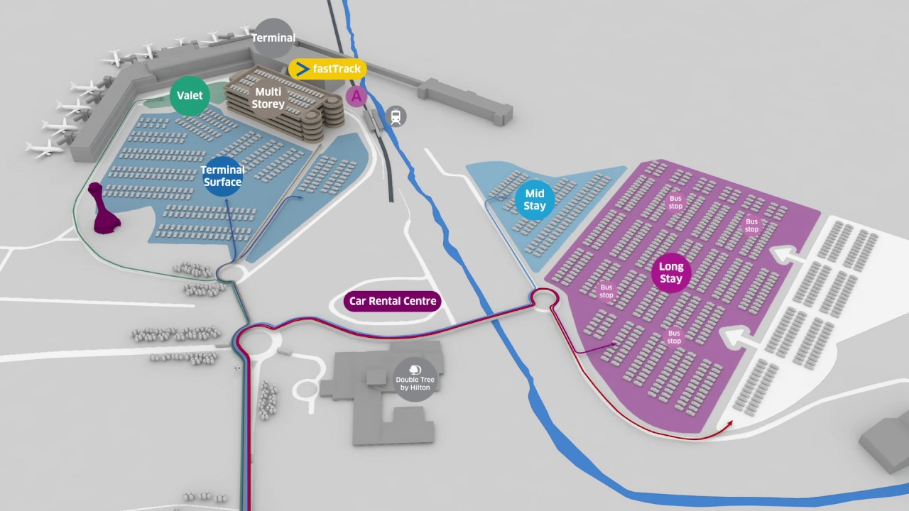 Edinburgh Parking Map Edinburgh Airport 3D Car Park Location Map   YouTube