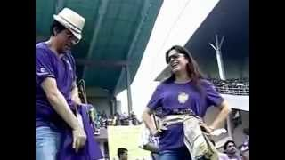 Shah Rukh Khan and Juhi Chawla dance along with #KKR players at Eden in FREECULTR Victory T-Shirts
