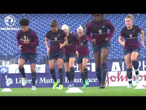 Lionesses train ahead of Germany fixture (2016 SheBelieves Cup) | Inside Training