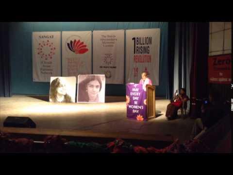 Charlotte Bunch delivers the Annual Sunila Memorial Lecture