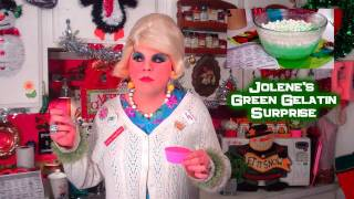 Lime Green Gelatin Surprise : In 3d : Day 12 Trailer Park Christmas