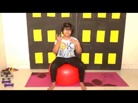 Beginners Swiss Ball / Fit Ball / Gym Ball Child Easy Exercises; Don't miss to see.