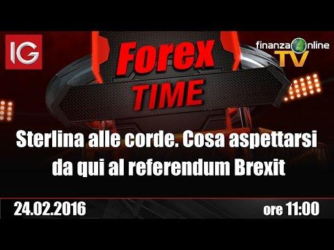 Forex Time - Sterlina alle corde. Cosa aspettarsi da qui al referendum Brexit