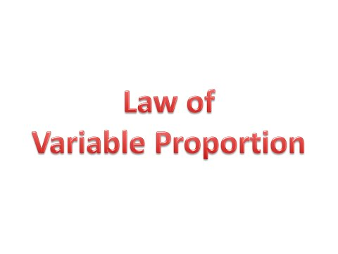 Law of Variable Proportion (Hindi)
