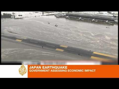 Earthquake dents Japan
