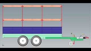 Прицеп 2 х осный бортовой с каркасом тента Багем(, 2015-01-22T20:46:52.000Z)
