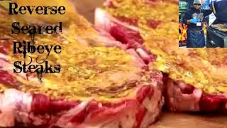How to Reverse Sear The Best Beef Ribeye Steaks! - The Rolling Grill