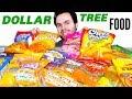 DOLLAR STORE FOOD HAUL! - Trying Dollar Tree Snacks & Candy!