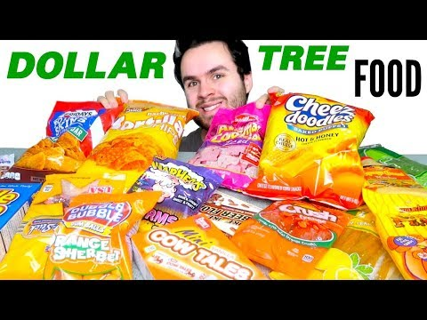 DOLLAR STORE FOOD HAUL! - Trying Dollar Tree Snacks & Candy!