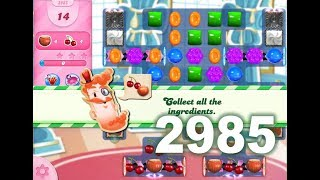 Candy Crush Saga Level 2985 (14 moves version, 2 boosters used)