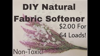 DIY Natural Fabric Softener {Non-Toxic & WORKS!}