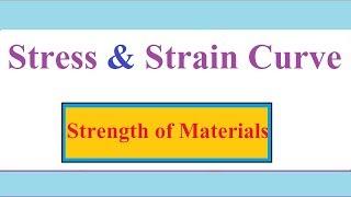 Stress and Strain Curve/Diagram in Hindi | Mild Steel Stress and Strain Curve SOM- 6
