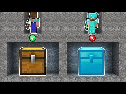 Minecraft - NOOB Vs PRO : NOOB FOUND DIAMOND CHEST IN SECRET MINE! Challenge 100% Trolling
