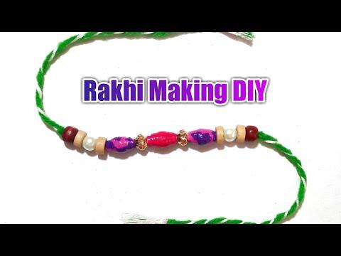 Rakhi making ideas using Paper beads | Easy Rakhi Tutorial