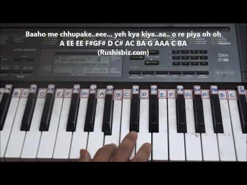 Tune o rangeele kaisa jadu kiya (Piano Tutorials) - Kudrat