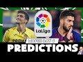 La Liga 2019/20  - Matchday 6 Predictions