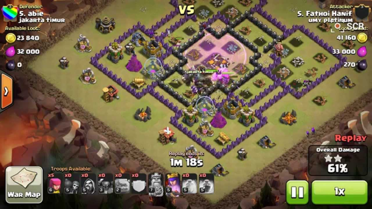 Clash of clans 3 star attack gowipe strategy at th 9 youtube