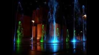 Беэр-Шева ночью, фонтаны