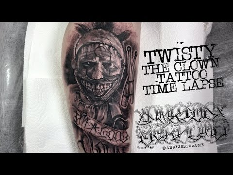 American Horror Story Twisty The Clown Tattoo Time lapse / Spektra Direct / Edge X / Silverback ink