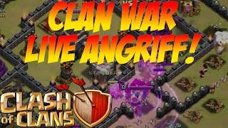 LIVE CLAN WAR ANGRIFF! || CLASH OF CLANS || Let