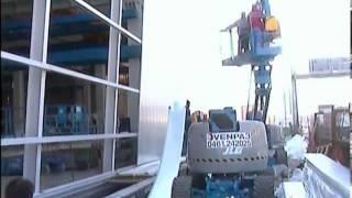 Монтаж фасадных панелей Rodeca(Видео иллюстрирует монтаж фасадных панелей выполненных из сотового поликарбонат Rodeca. Панели обладают..., 2013-03-10T19:30:13.000Z)