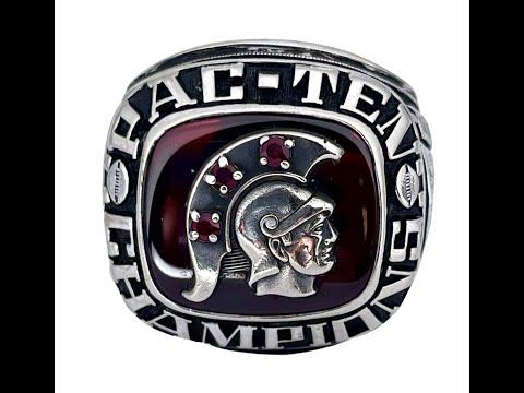 "1979-80 USC Trojans ""Pac -10 / Rose Bowl"" Champions NCAA Football Ring!"
