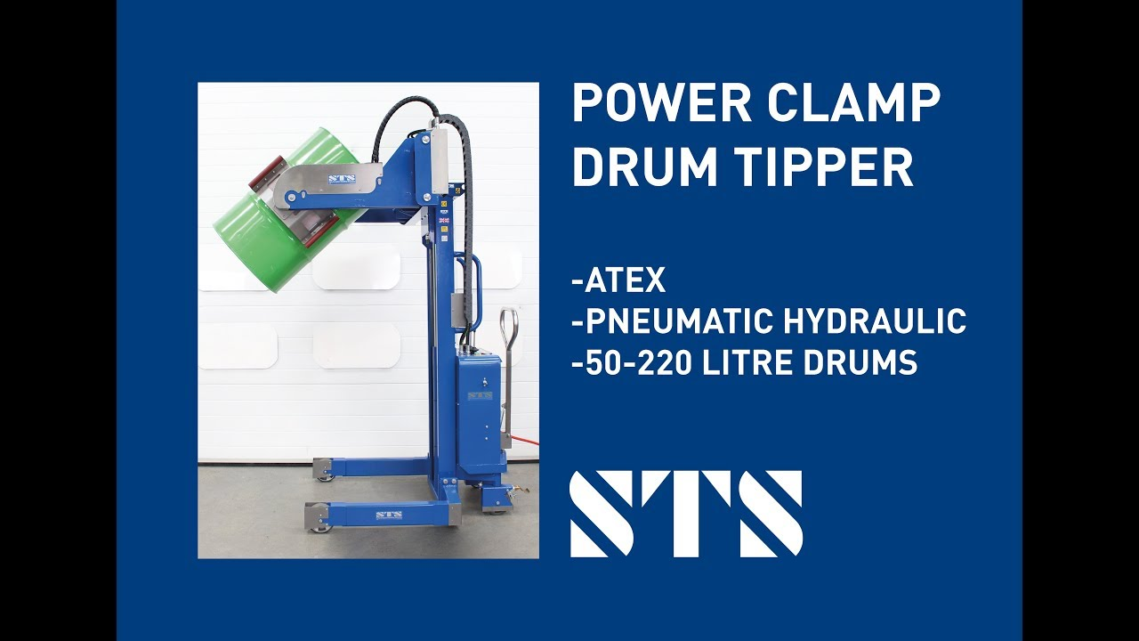 ATEX Power Clamp Drum/Barrel Tipper (Model: STP01-RRH01-Ex)