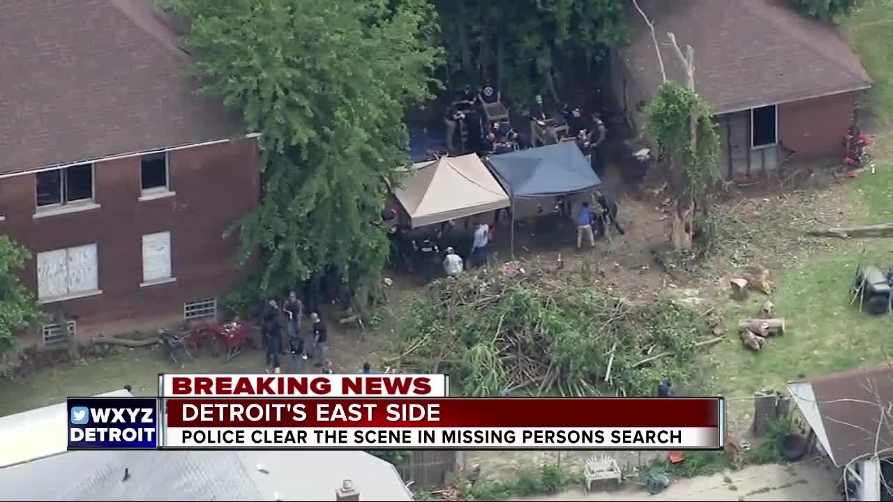 Police clear scene in missing persons search