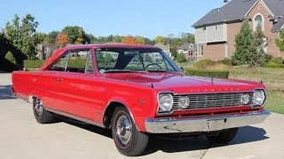 1966 Plymouth Satellite Hemi Test Drive Classic Muscle Car for Sale in MI Vanguard Motor Sales