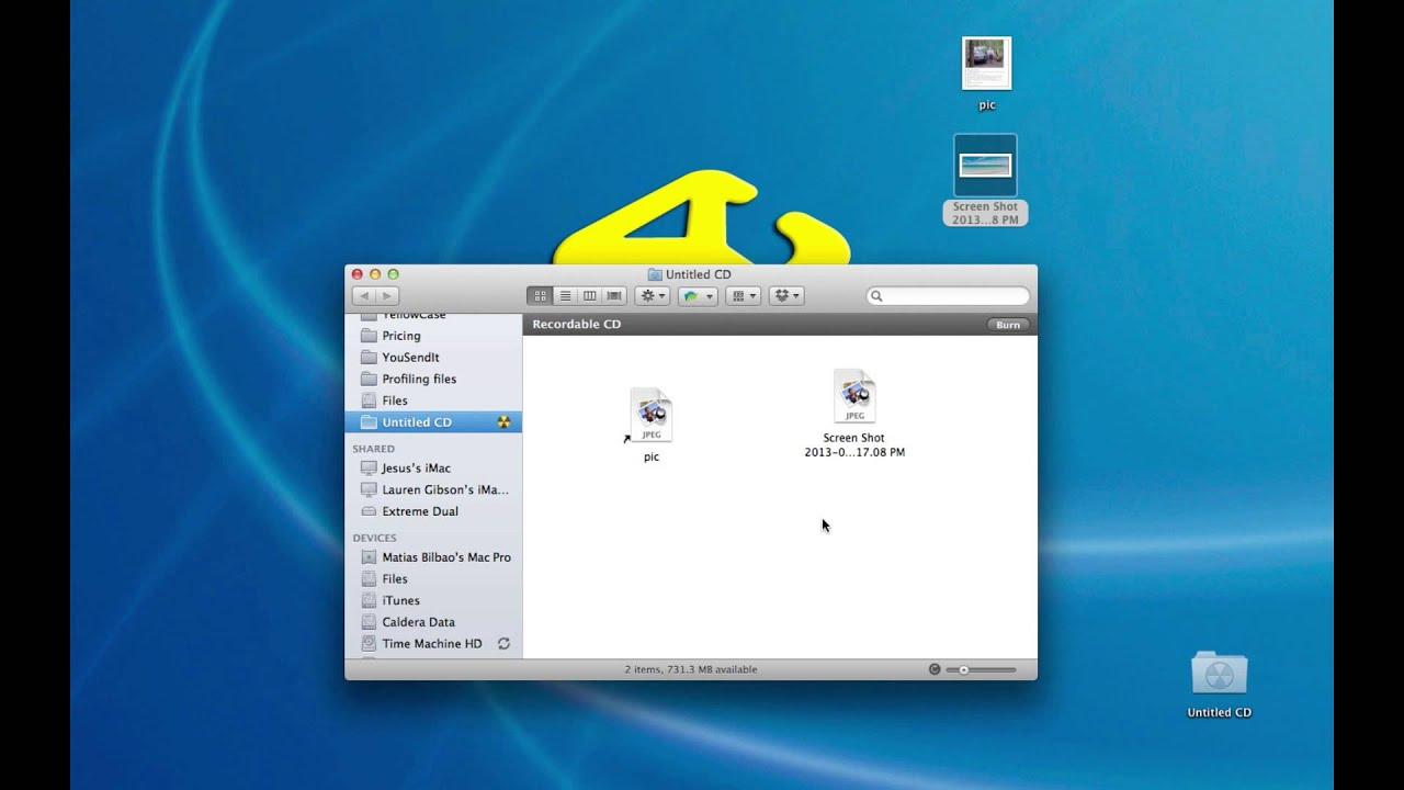 Mac OSX Basics: How to burn a CD or DVD