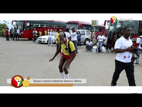 Watch Ghana's craziest football fan dance to Telemo