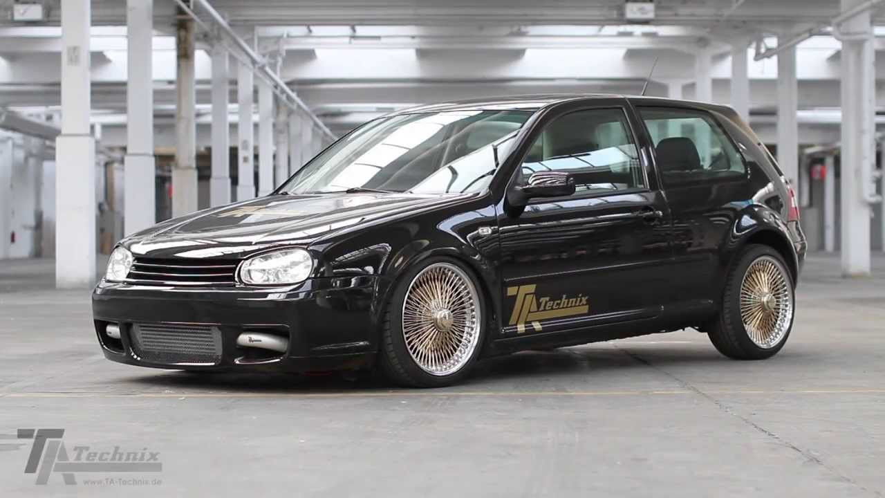 ta technix luftfahrwerk vw golf iv youtube. Black Bedroom Furniture Sets. Home Design Ideas