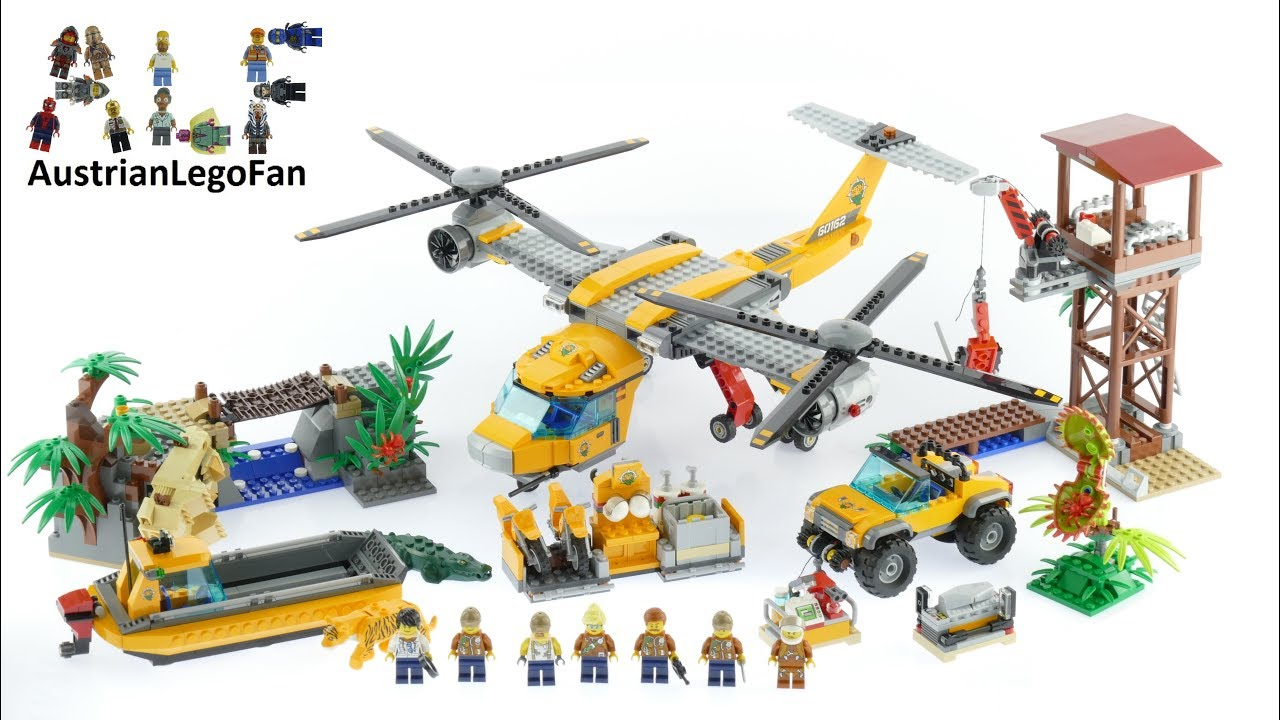 Lego City 60162 Jungle Air Drop Helicopter Lego Speed Build Review