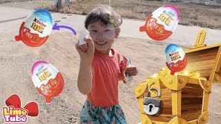라임가족의 보물찾기 게임  서프라이즈 에그 찾기 장난감 놀이 playground family fun for kids