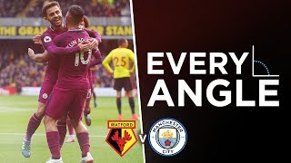 AMAZING SOLO AGUERO GOAL! | EVERY ANGLE  AGUERO v Watford | Watford 0 6 City