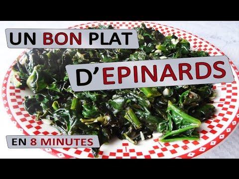 un-bon-plat-d'épinards-en-8-minutes-|-maman-cuisine