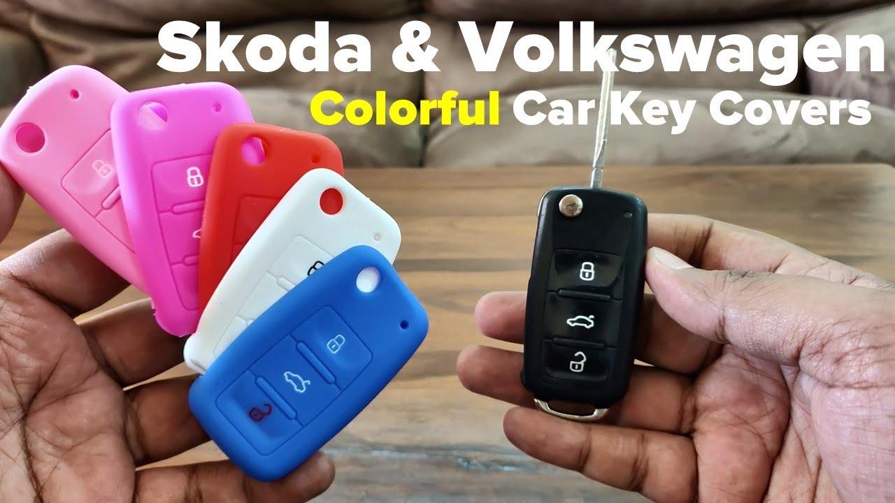 Silicone Car Key Cover For Skoda Volkswagen Fabia Rapid