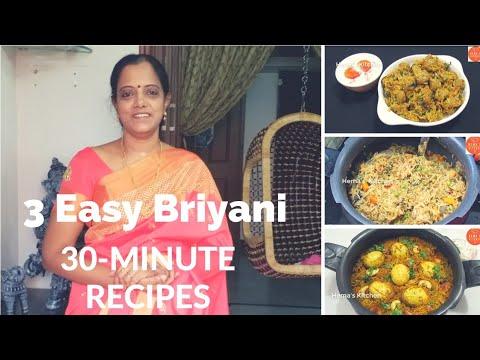 3 வகை பிரியாணி ஒவ்வொன்றும் ஒவ்வொறு சுவையில்/3 Types of  Briyani recipe's/briyani recipe in Tamil