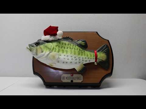 Big Mouth Billy Bass Singing Fish  - Christmas Edition 1999!