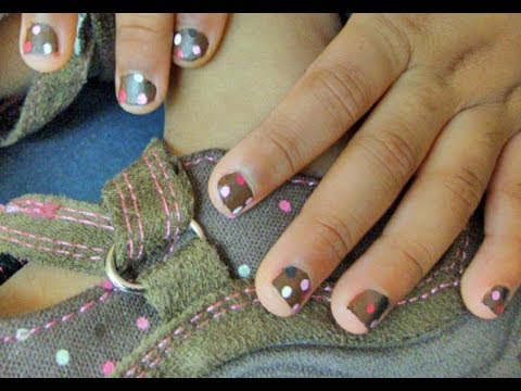Wee little pink polka dots girls nail art by luvablenails youtube prinsesfo Choice Image