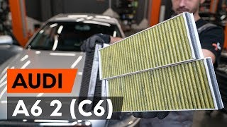 Montage Filtre à pollen AUDI A6 : video manuel