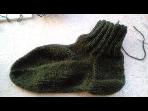 вязание носков мужские классические носки классическая пятка Youtube