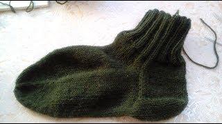 Вязание носков. Мужские классические носки. Классическая пятка