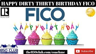 Happy 30th Birthday To FICO! - MyFICO Report #dirtythirty,  dave ramsey