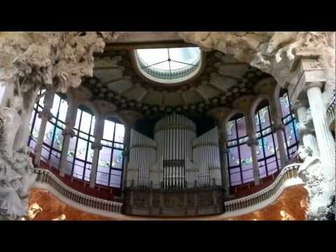 Palau de la Musica Catalana Barcelona Organ Demonstration.mp4