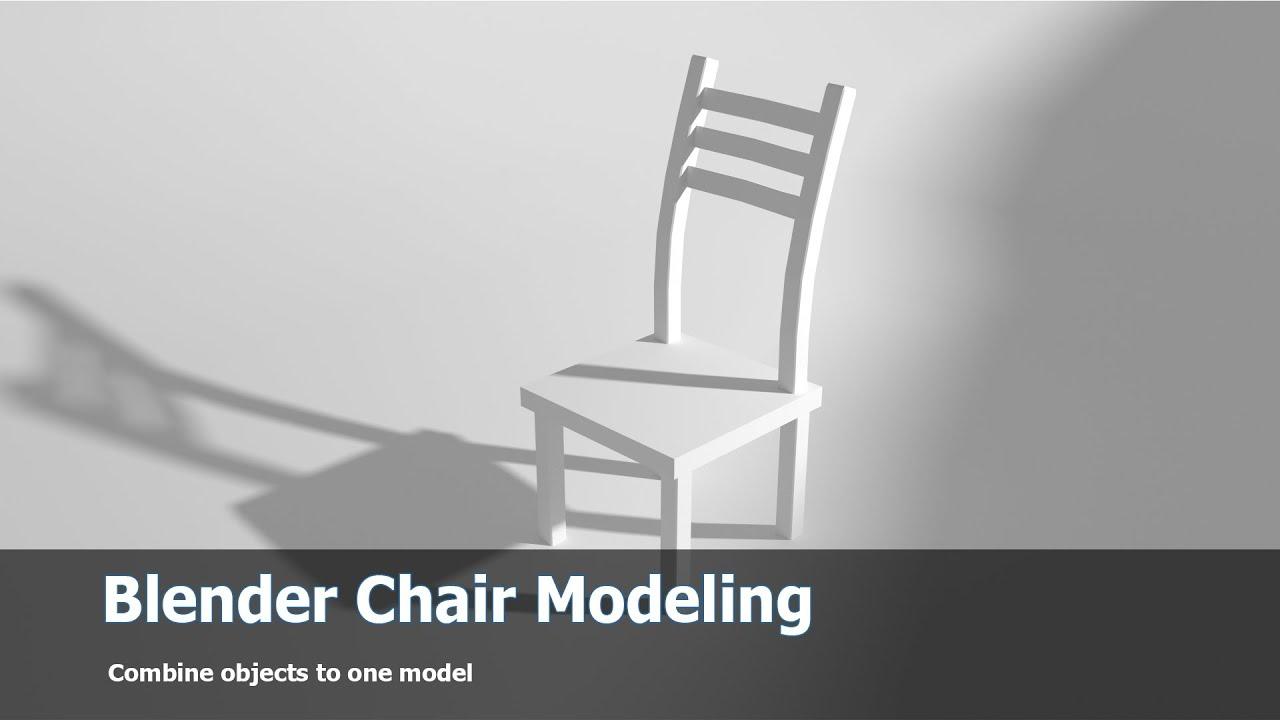 Blender Modeling Tutorial Chair Youtube