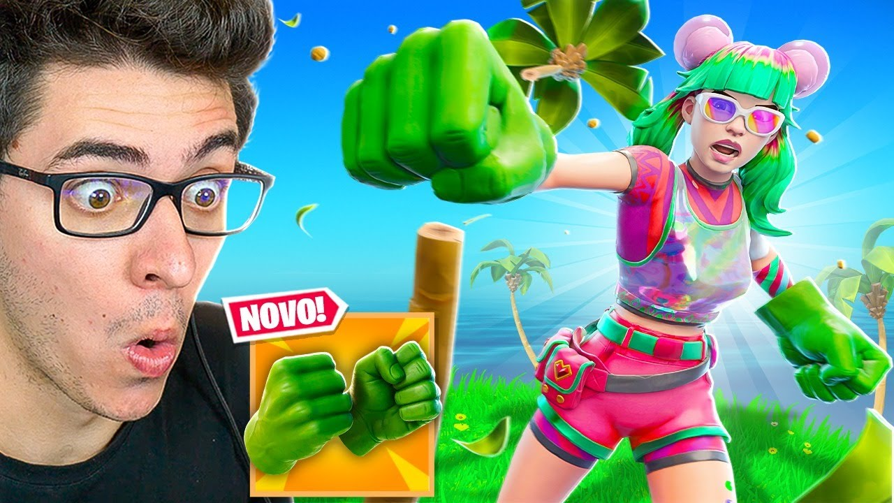 GANHEI AS NOVAS LUVAS DO HULK ANTES DA HORA! Fortnite