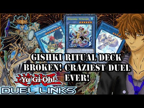 GISHKI RITUAL DECK BROKEN! CRAZIEST DUEL EVER! | YuGiOh Duel Links