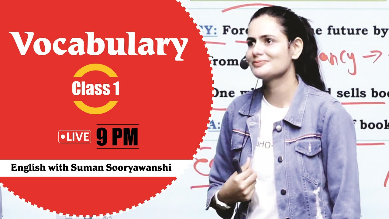 Vocabulary Booster | Class - 01 |  Best method to learn Vocabulary  | By Suman Sooryawanshi Ma'am
