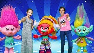 - ТРОЛЛИ и ЛучшиеПодружки готовятся к школе  Магазин игрушек  Видео для девочек с игрушками